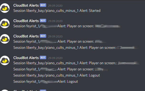 Alerts messages on Discord