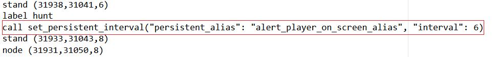Starting alert on spawn